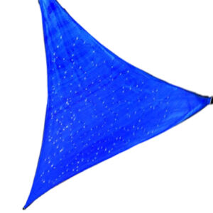 Triangle/square/ HDPE gardenline outdoor uv protection sun shade sail with LED solar light